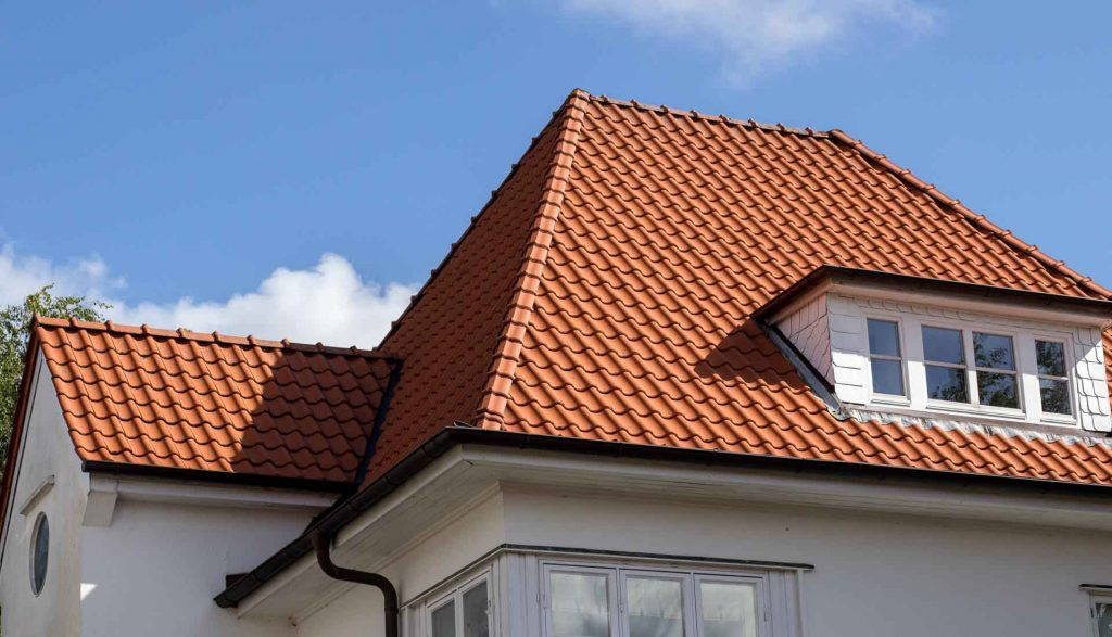 Roofers Coventry new red tile roof