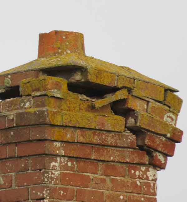 Damaged chimney in Coventry