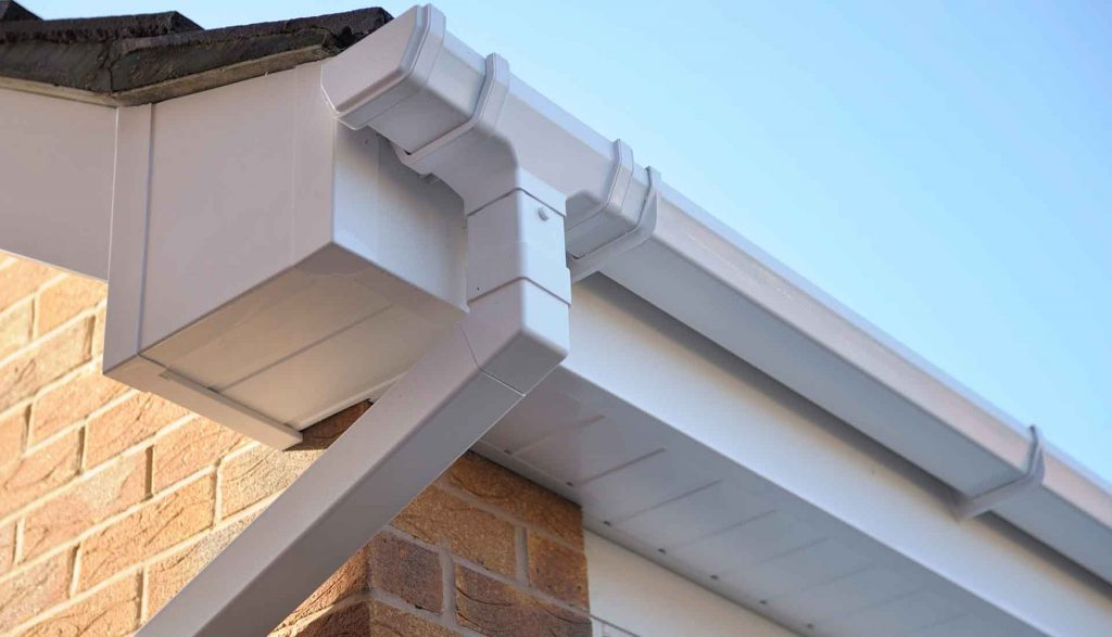 White fascias, soffits and guttering in Coventry
