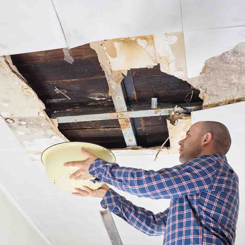 Man needing roof repairs in Coventry
