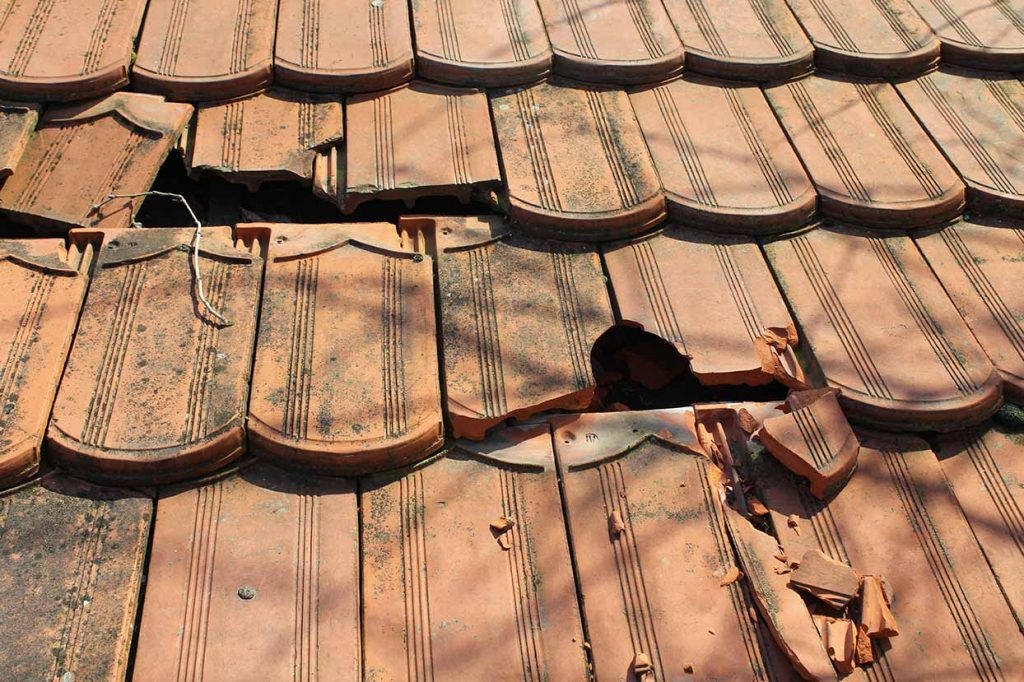 damaged roof tiles in Coventry