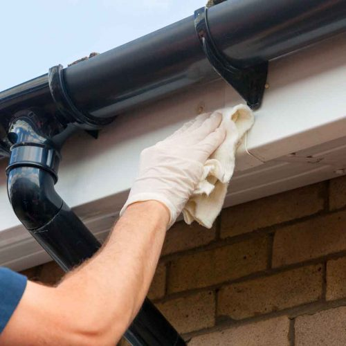 Cleaning Fascias, soffits and guttering in Coventry
